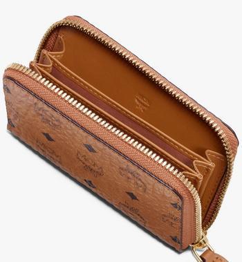 MCM Brieftasche mit Reissverschluss in Visetos Alternate View 3