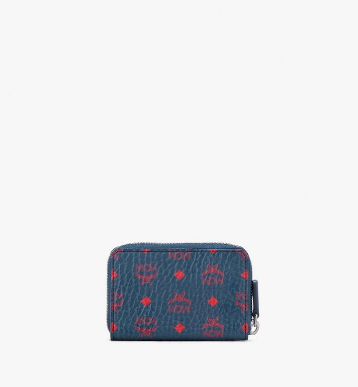 MCM Zip Wallet in Visetos Blue MXZ9AVI58VS001 Alternate View 2
