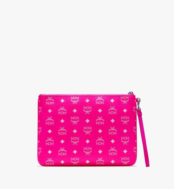 MCM Zip Pouch in Visetos Pink MXZ9AVI60QP001 Alternate View 2