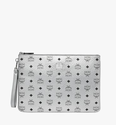 Wristlet Zip Pouch in Visetos Original