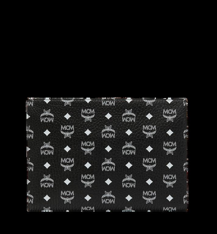 MCM Reissverschlussbeutel mit Visetos-Logo in Weiss Black MXZ9SWA04BV001 Alternate View 3