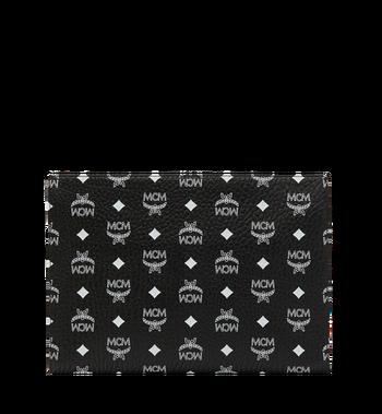 MCM Pochette zippée en Visetos à logo blanc Alternate View 3