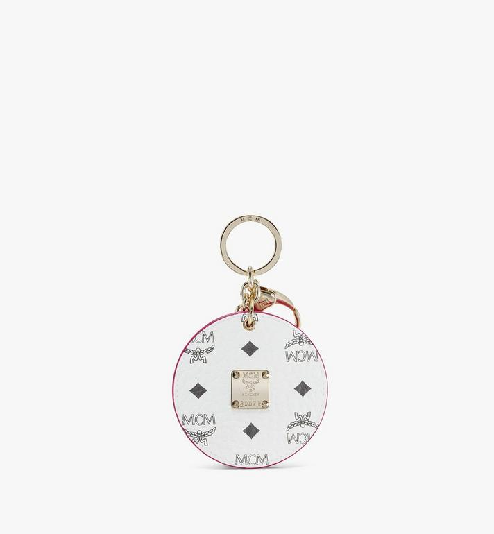 MCM Mena M Print Charm in Visetos Pink MXZAAMM01QH001 Alternate View 2