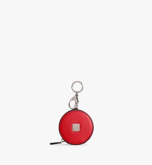 Porte-monnaie avec porte-clés en cuir à pois