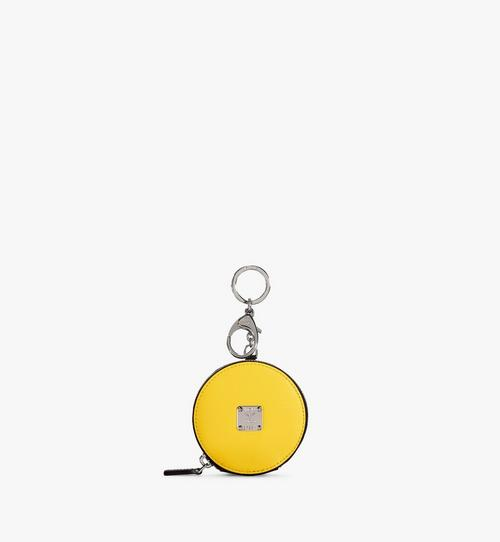 Coin Pouch Charm in Polka Dot Leather