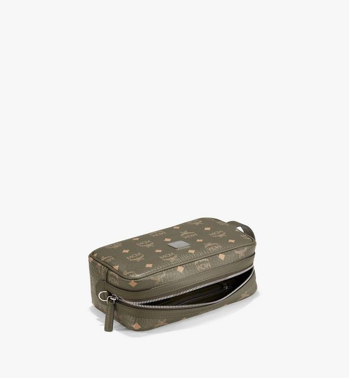 MCM Wash Bag in Visetos Original Green MXZAAVI01JH001 Alternate View 3