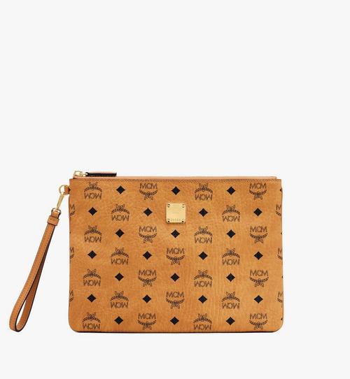 กระเป๋าเพาช์พร้อมสายคล้องข้อมือลาย Visetos Original