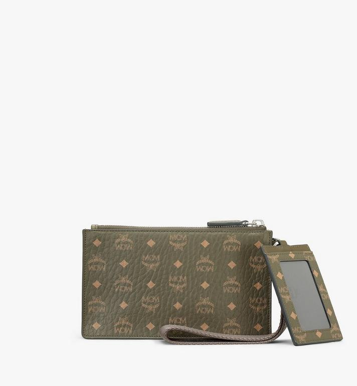 MCM Multifunction Pouch in Visetos Original Green MXZAAVI06JH001 Alternate View 3