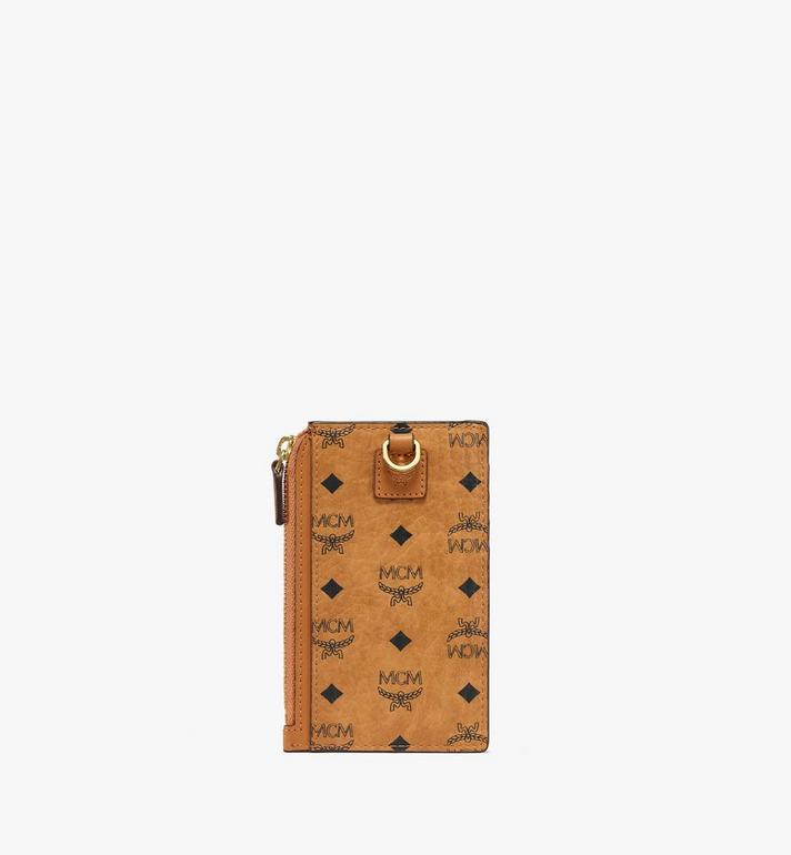 MCM กระเป๋าใส่บัตรลาย Visetos Original พร้อมสายคล้องคอ Cognac MXZAAVI08CO001 Alternate View 4