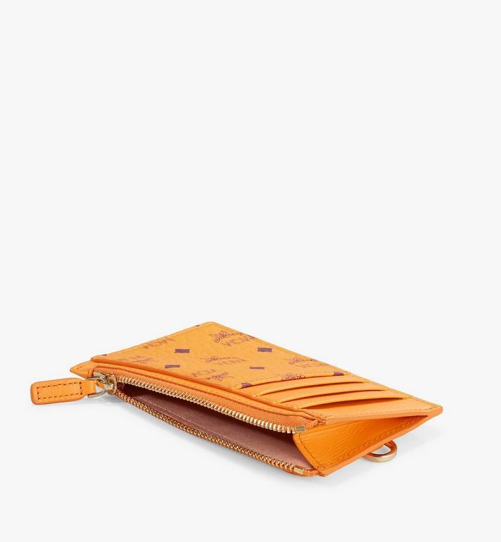 MCM Lanyard Card Holder in Visetos Original Gold MXZAAVI08O5001 Alternate View 2
