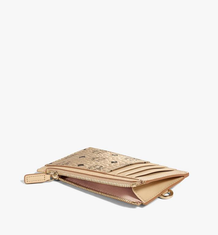 MCM Lanyard Card Holder in Visetos Original Gold MXZAAVI08T1001 Alternate View 2