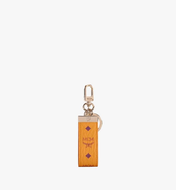 MCM Key Ring in Visetos Original Gold MXZAAVI09O5001 Alternate View 2