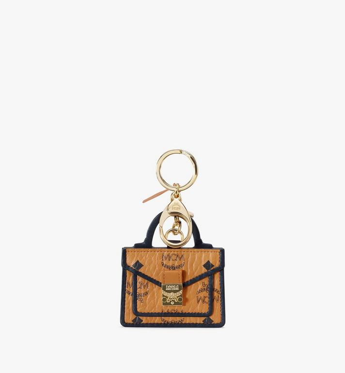 MCM Patricia Satchel 2D Charm in Visetos Alternate View