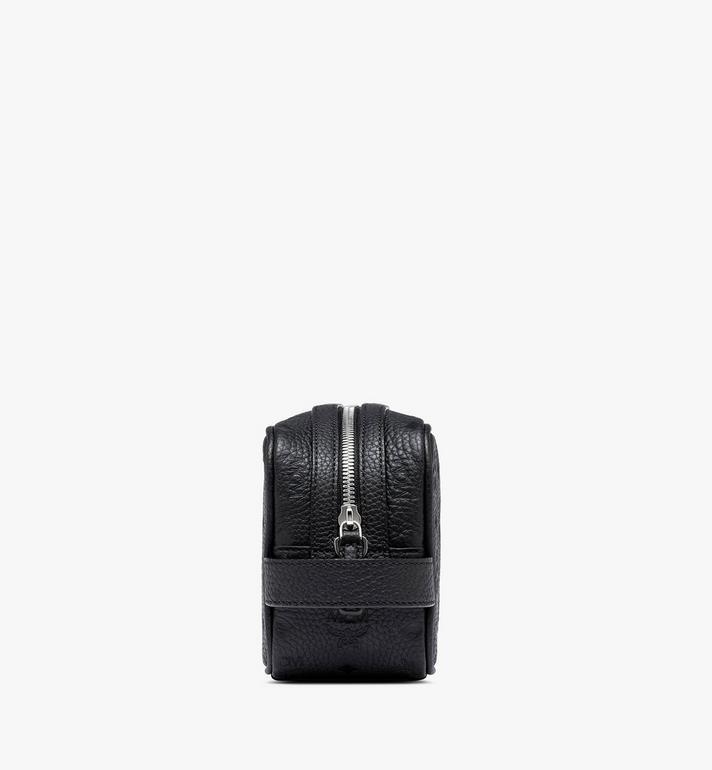 MCM Tivitat Wash Bag in Monogram Leather Black MXZASBT02BK001 Alternate View 2