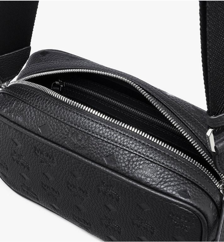 MCM Tivitat Wash Bag in Monogram Leather Black MXZASBT02BK001 Alternate View 4