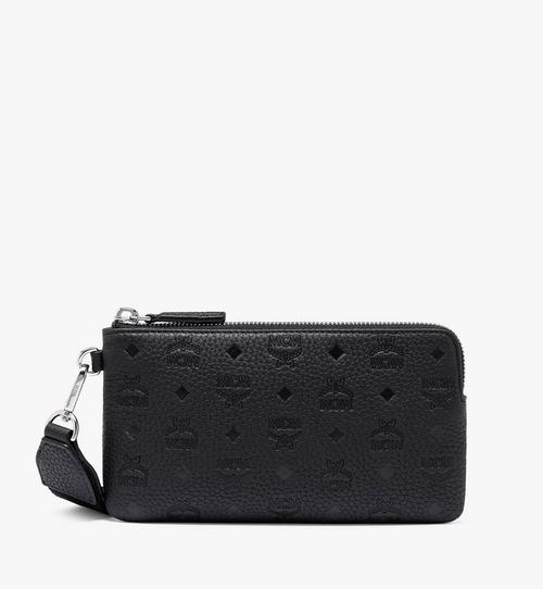 Tivitat Tech-Pouch aus Leder mit Monogramm