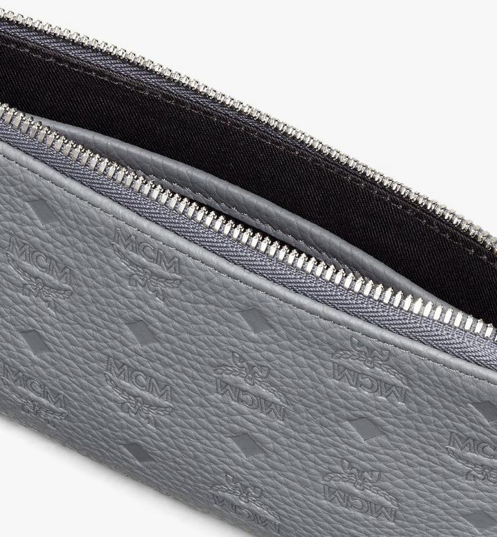 MCM 縮寫字母圖案皮革 Tivitat 電子產品收納包 Grey MXZASBT03FK001 Alternate View 3
