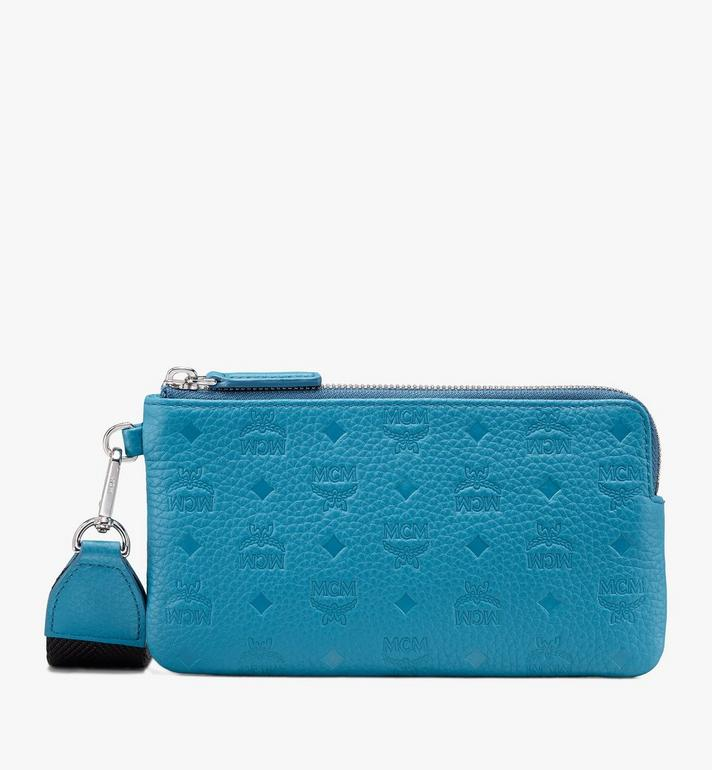 MCM Tivitat Tech Pouch in Monogram Leather Alternate View