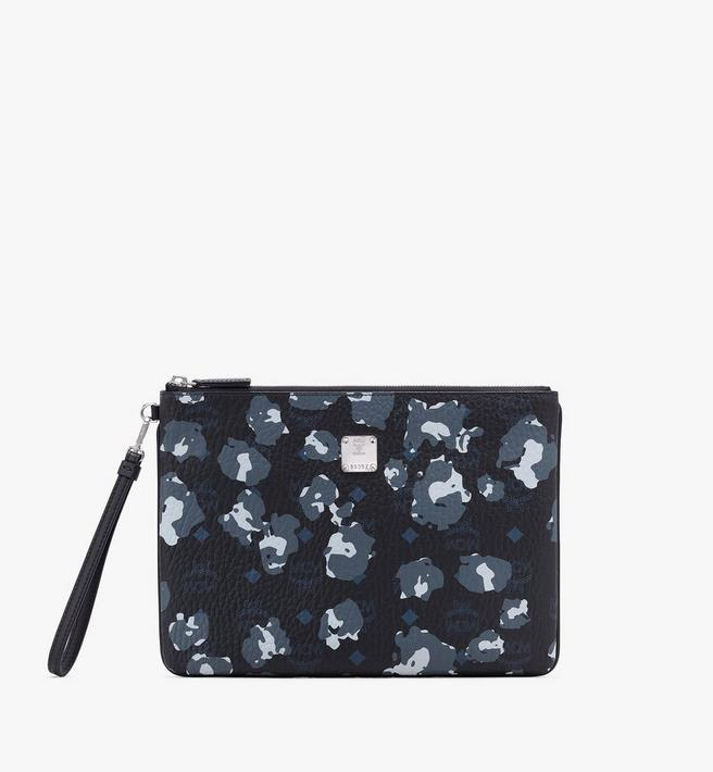 MCM Wristlet Zip Pouch in Floral Leopard Alternate View