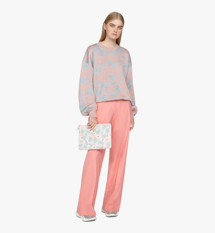 MCM Wristlet Zip Pouch in Floral Leopard Pink MXZASLF01QI001 Alternate View 4