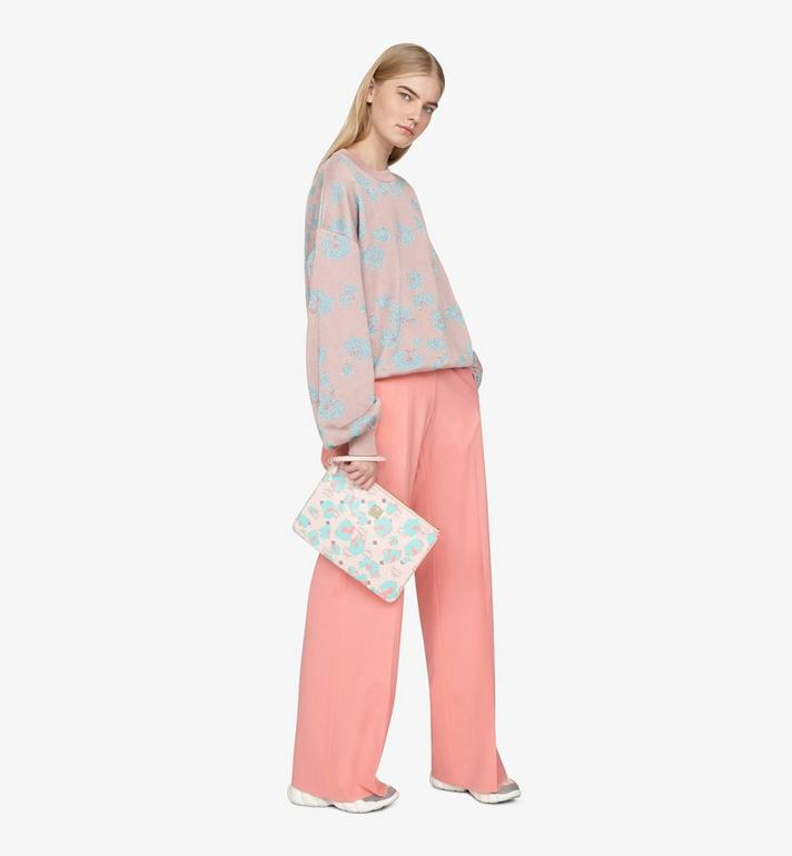 MCM Wristlet Zip Pouch in Floral Leopard Pink MXZASLF01QI001 Alternate View 5