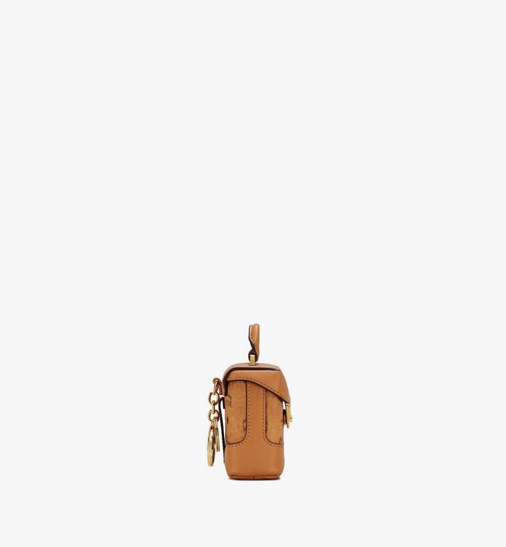 MCM Soft Berlin Bag Charm in Visetos Cognac MXZASVI01CO001 Alternate View 2