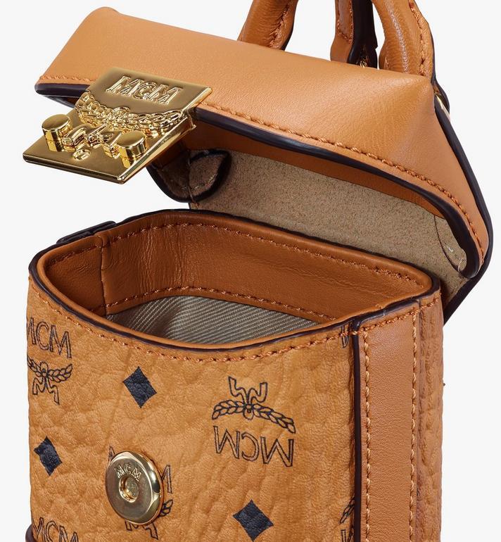 MCM Soft Berlin Bag Charm in Visetos Cognac MXZASVI01CO001 Alternate View 4