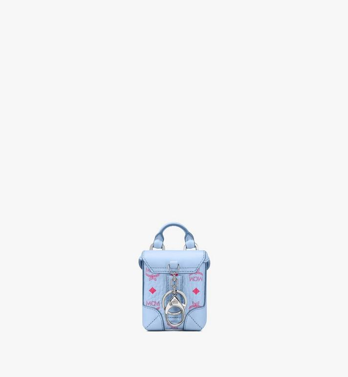 MCM Soft Berlin Charm in Visetos Blue MXZASVI01H2001 Alternate View 3