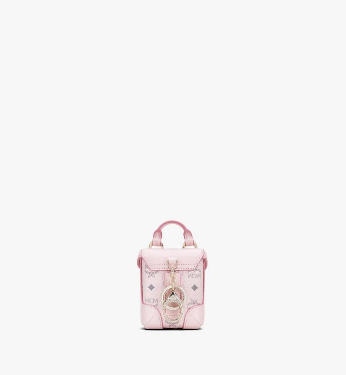 MCM Soft Berlin Bag Charm in Visetos Pink MXZASVI01QH001 Alternate View 3