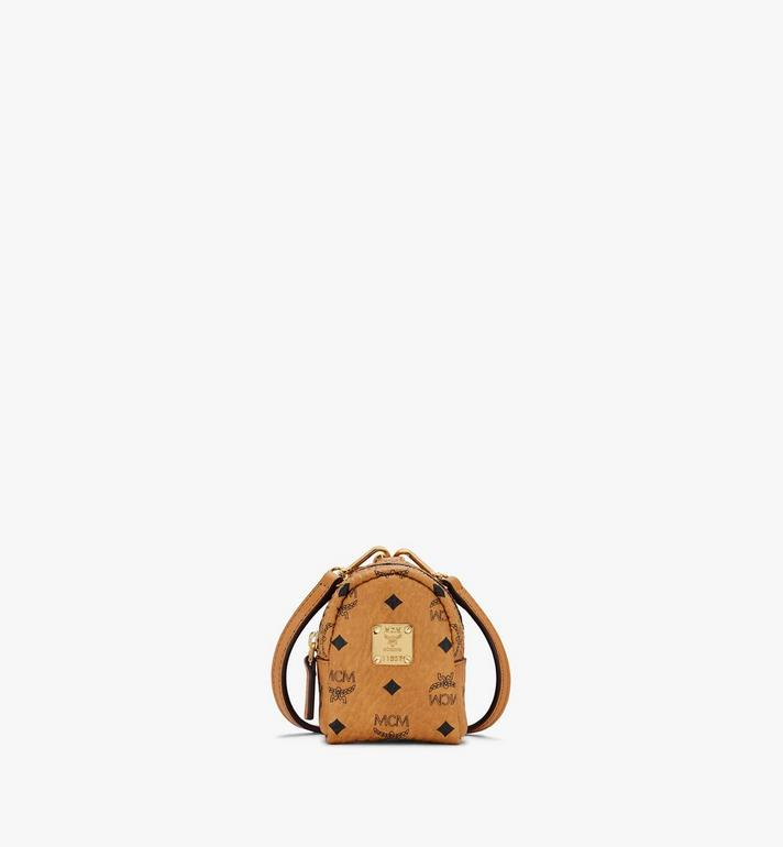 MCM Backpack Charm with Crossbody Strap in Visetos Cognac MXZASVI02CO001 Alternate View 1