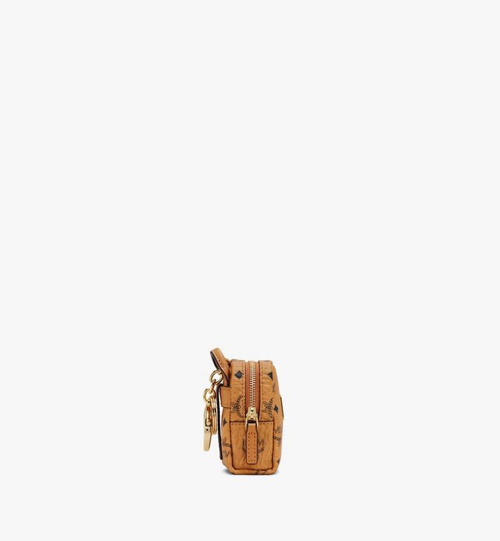 MCM Porte-clés sac à dos avec bandoulière en Visetos Cognac MXZASVI02CO001 Alternate View 2