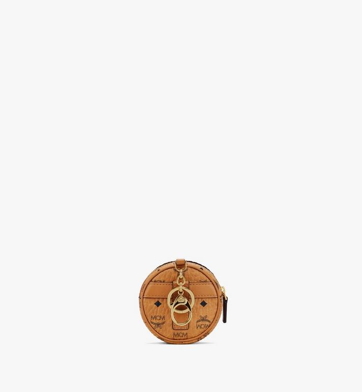MCM Tambourine Charm with Crossbody Strap in Visetos Cognac MXZASVI03CO001 Alternate View 3