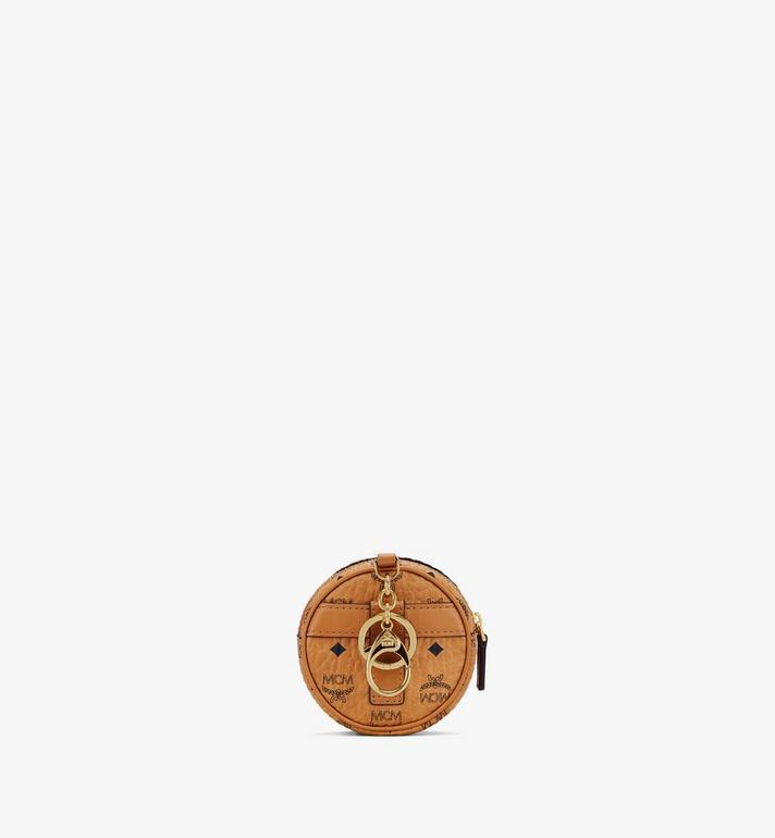 MCM Tambourine Visetos 鈴鼓包 Airpod 耳機保護盒 Cognac MXZASVI03CO001 Alternate View 3