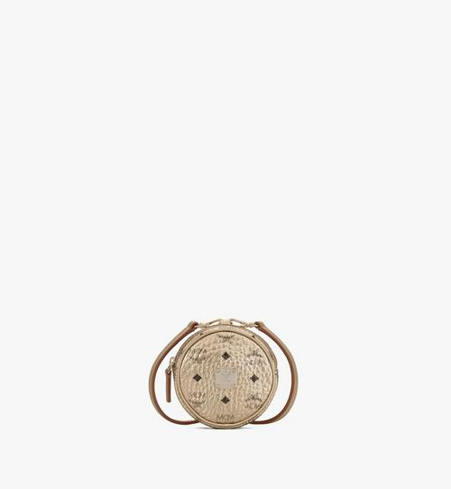 Tambourine Charm with Crossbody Strap in Visetos