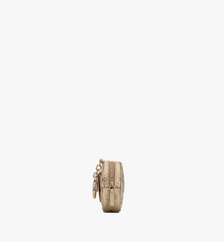 MCM Runder Charm mit Crossbody-Träger in Visetos Gold MXZASVI03T1001 Alternate View 2