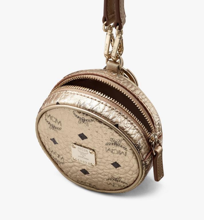 MCM Charm Tambourin à bandoulière en Visetos Gold MXZASVI03T1001 Alternate View 4