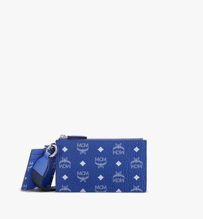 MCM Multifunction Pouch in Visetos Alternate View