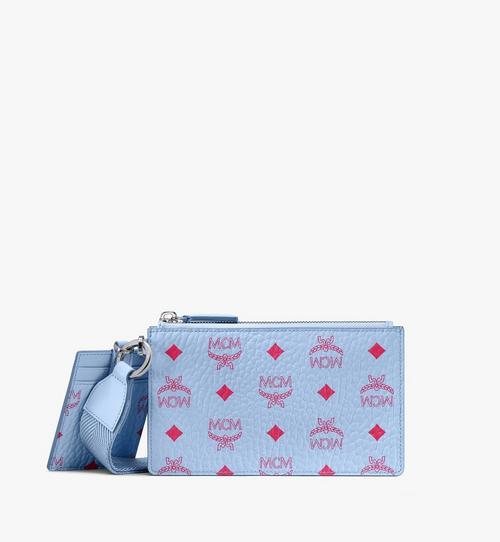กระเป๋าเพาช์ติดซิปแบบคล้องข้อมือลาย Visetos