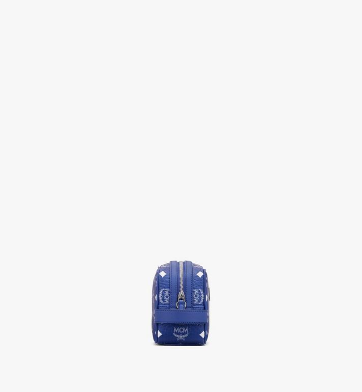 MCM Wash Bag in Visetos Blue MXZASVI07H1001 Alternate View 2