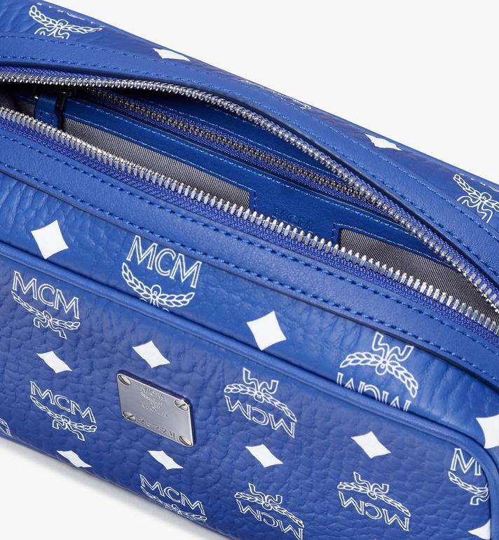 MCM Wash Bag in Visetos Blue MXZASVI07H1001 Alternate View 4