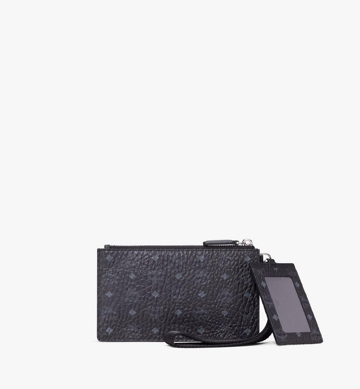 MCM Multifunction Pouch in Visetos Black MXZASVI12BK001 Alternate View 2