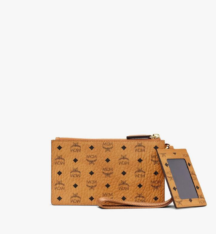 MCM Multifunction Pouch in Visetos Cognac MXZASVI12CO001 Alternate View 2