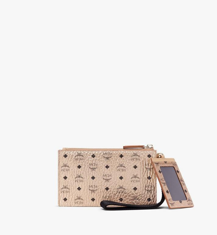 MCM Multifunction Pouch in Visetos Gold MXZASVI12T1001 Alternate View 2