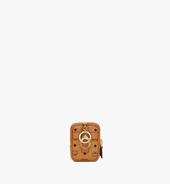 MCM Airpod Case Charm in Visetos Gold MXZASVI13CO001 Alternate View 3