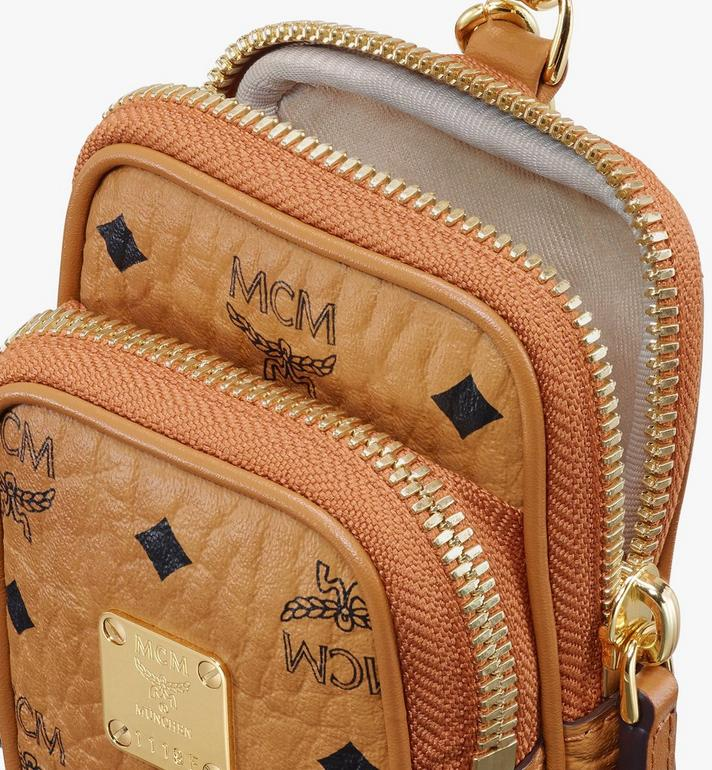 MCM Crossbody Charm in Visetos Gold MXZASVI13CO001 Alternate View 4