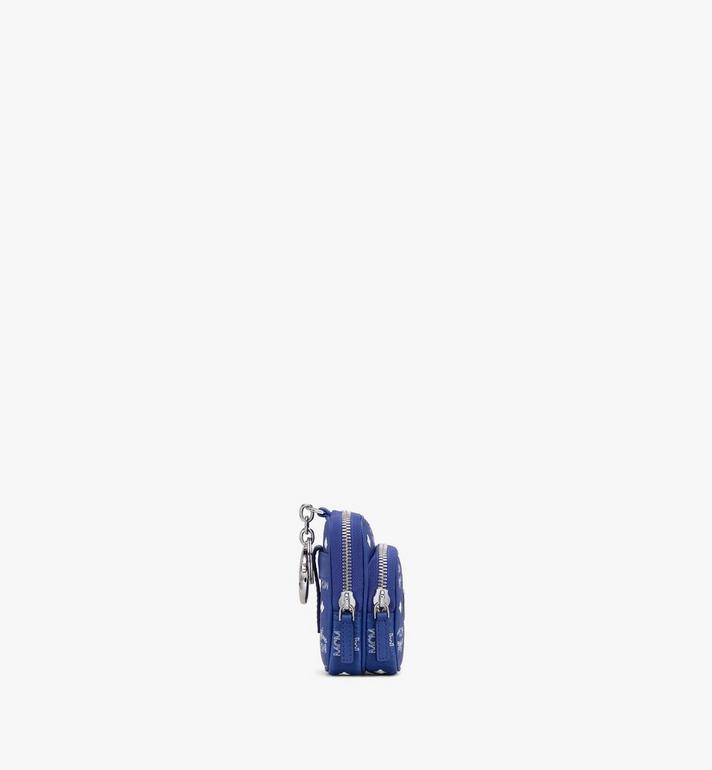 MCM Crossbody Charm in Visetos Blue MXZASVI13H1001 Alternate View 2