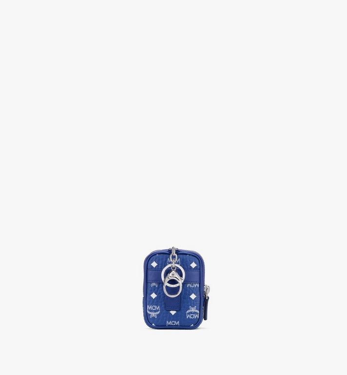MCM Crossbody Charm in Visetos Blue MXZASVI13H1001 Alternate View 3