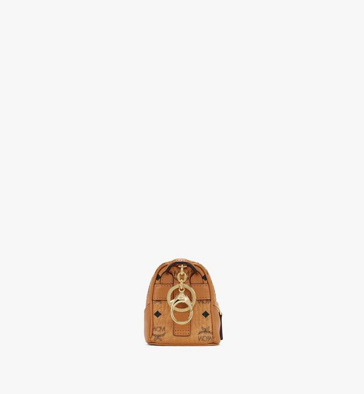MCM Neo Duke Backpack Charm in Visetos Cognac MXZASVI14CO001 Alternate View 3