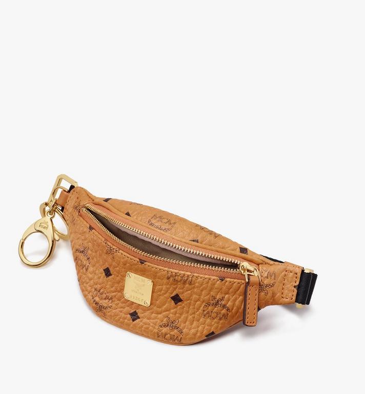 MCM Belt Bag Charm in Visetos Cognac MXZASVI15CO001 Alternate View 3