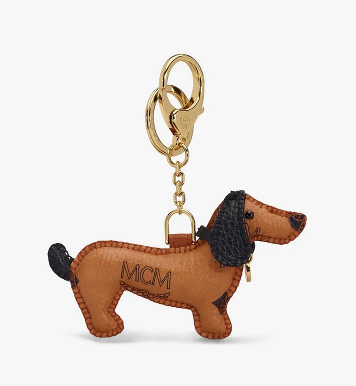 MCM MCM Zoo Dog Charm Cognac MXZASXL07CO001 Alternate View 3